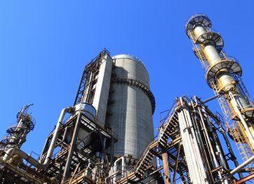 Factory against Blue Sky