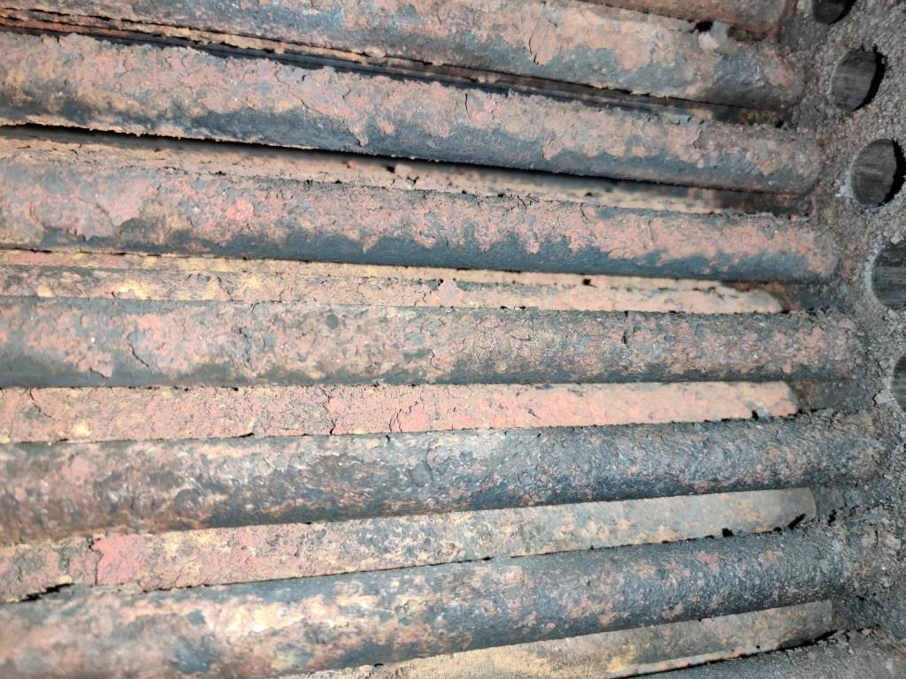Corrosion inside the heat exchanger